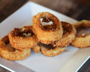 Onion rings at one of the best places to eat in Abilene, TX
